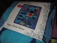 NWT Lilo And Stitch Extraterrestrial Space Dog Disney Plush Fleece Throw Blanket