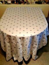 "Beautiful vintage German Linen, Tablecloth.  116"" x 57"""