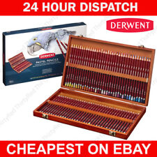 Derwent Professional Pastel Pencils 72 Wooden Box Complete Set of Colours