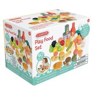 Casdon Little Cook Colourful Pretend Play Food Set Toy,  Fruit & Vegetables, 3+