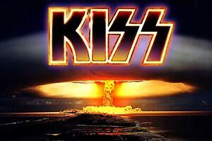 "Rock Band Poster Wall Deco. Kiss, 24"" x 36"""