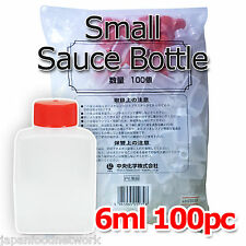 100 x 6ml Plastic Disposable Small Size Sauce Container Dressing Sauce Bottle