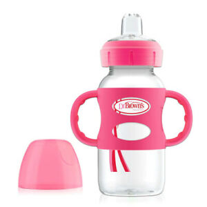 (270ml, Pink) - Dr. Brown's Options Wide-Neck Sippy Spout Baby Bottle with
