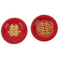 1:12 Dollhouse Miniature Creative Retro Round Red Plate Accessories T Nd