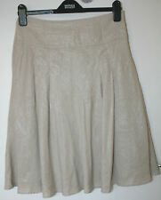 Monsoon UK8 EU36 stone-coloured linen and lined skirt with sparkly finish