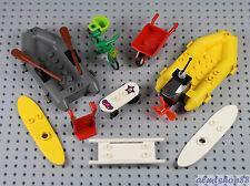 LEGO - 9 pcs Sports Vehicle Lot - Skateboard Raft Bicycle Motor Boat Wheelbarrow