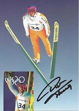 Autógrafo Dieter Thoma olímpicas esquí Olympia victoria tarjeta de tiempo activo