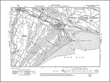 Rye Harbour, Camber Sands, Camber Castle, old map Sussex 1910: 45SE repro