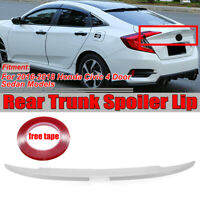 For 2016-19 Honda Civic 10th Sedan Painted White Duckbill HighKick Trunk Spoiler