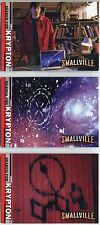 Smallville Season 2 Complete Search For Krypton Chase Card Set BL1-3