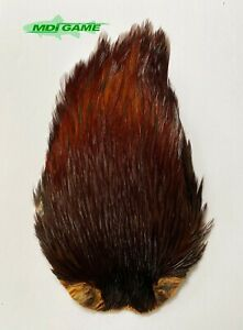 MDI Game Fishing Quality Grade A Nat. Brown Indian Cock Cape For Fly Tying K1