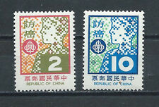 CHINA , TAIWAN , 1978 , CANCER PREVENTION , SET OF 2 , PERF , MNH
