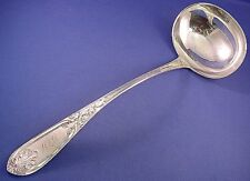 Wood & Hughes Coin Silver Fancy Lg Soup Ladle