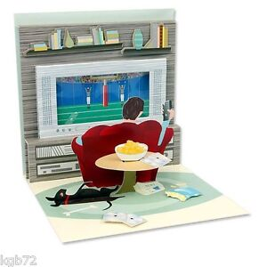 3D Couch Potato Pop Up Card Greeting Card by Up With Paper Treasures #803