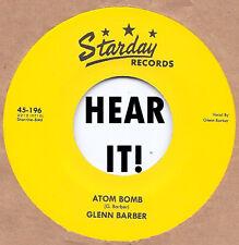 Rockabilly: GLENN BARBER-Atom Bomb/Poor Man's Baby STARDAY-REPRO Fantastic!
