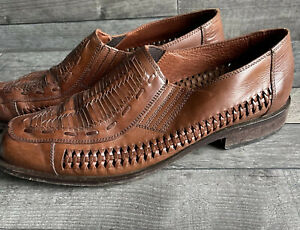 Mens Barker Brown Leather Shoe - Open Sided - Size 10.5 UK