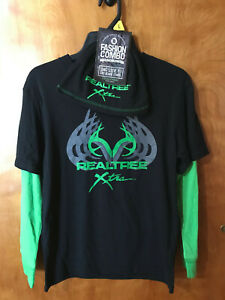 Real Tree Boy/'s Size Large Long Sleeve T Shirt Made in the USA
