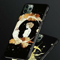 Tarot Cards Theme Phone Case Moon Eye Oracle Soft Cover For iPhone 12 11 8 X XS