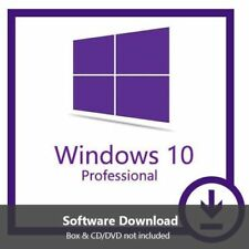 Genuine Windows 10 Pro Professional 32 / 64bit Original License Key Scrap PC