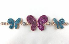 925 Sterling Silver Women's Butterfly Elevator (Adjustable) Bracelet  -SB002