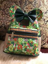 IN HAND Disney Minnie Mouse Main Attraction Tiki Room Loungefly Bag Backpack