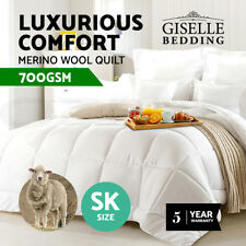 All Size 100 Australian Merino Wool Quilt 350 500 700 GSM Doona Duvet Cover
