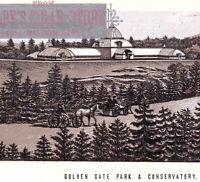 San Francisco 1890's Golden Gate Park Conservatory Cigar Store Photo-Lith Card