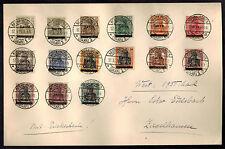 1920 Neunkirchen Saar Germany Oversize Cover to Ziegelhausen # 1-17