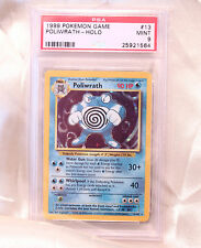 Pokemon Card Off Color Misprint Purple BG Poliwrath 13/102 Base Set PSA 9 Mint!
