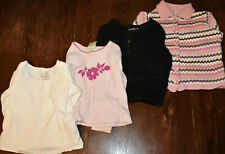 Lot of 4 Baby Girl Long Sleeve Shirts 24m 2T