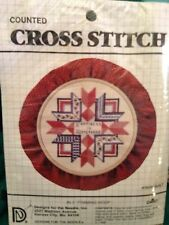 """Designs for the Needle Counted Cross Stitch """"Happiness is Homemade"""" 5"""" Hoop NEW!"""