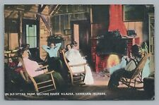 Volcano House Kilauea Sitting Room HAWAII Antique Interior PMC~1910s