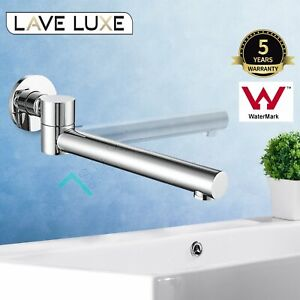 Cascade Round Wall Basin Swivel Water Bath Spout SPA Outlet Chrome Brass Faucet