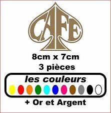 Stickers autocollant réservoir moto café racer / bobbers (3 pieces)