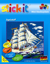 Mini Stecksystem Segelschiff ca. 5.000 Teile Nr. 41132 mit XXL-Steckvorlage