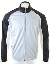 NIKE Mens Tracksuit Top Jacket UK 41/43 Large Black Polyester  KQ01