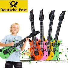 6er/Set Luftgitarre im Set, verschiedene Farben, aufblasbare Gitarre für Kinder