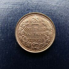 More details for 1902 edward vii third farthing recieve the coin pictured free uk p&p