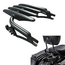 Black Detachable Stealth Luggage Rack Kit For Harley Davidson Touring 2009-2016
