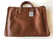 b6f094ca5c Mulberry Oak Leather Farringdon Zip Briefcase. With Tags and Dust Bag.