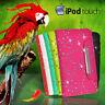 Glitter Wallet Flip Leather Case Cover For iPod Touch 5 Gen + Scrn G BLING Fancy