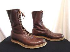 Vintage Foot So Port Supreme Brown Leather Lace Up Logger Work Boots Men Sz 10.5