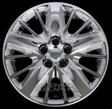 "4 New 2014-17 IMPALA LS 18"" Chrome Bolt On Wheel Covers Hub Caps Full Rim Skins"