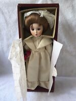 "DANBURY MINT CATHERINE A GIBSON GIRL BRIDE 13"" BRIDES OF AMERICA SERIES W/TAG"