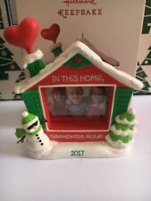 Grandkids Rule Photo Frame Christmas Tree Hallmark Keepsake Ornament New In Box