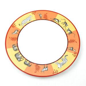 Hermes Africa Dessert Plate Dish Tableware Orange Animal Ornament Porcelain New