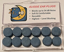 SNORING - Ear Plugs - Custom Moulded (6 pairs) - 34 dB Noise Reduction Rating