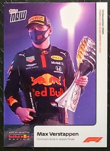 2020 TOPPS NOW FORMULA 1 F1 #23 MAX VERSTAPPEN Dominant Drive RC Rookie