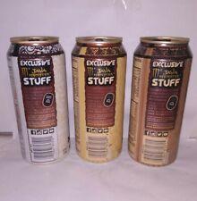 2015 Java Monster Energy STUFF PROMO Set of 3 Cans! Full, Sealed 15 oz RARE