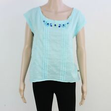 Hollister Womens Size L Lightweight Cotton Blue Blouse Top